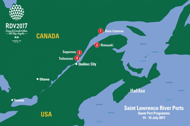 Saint Lawrence River Ports Sail On Board - St lawrence river on us map