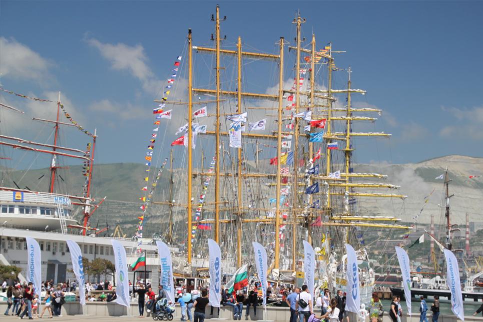 Tall Ships in Novorossiysk port
