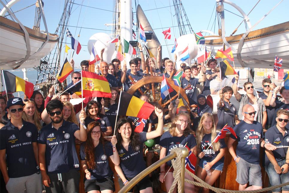tall-ships-races-2016-Trainees-on-Statsraad-Lehmkuhl