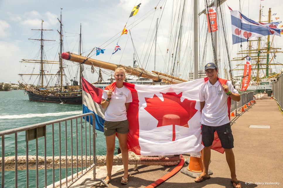 canadian flag in bermuda