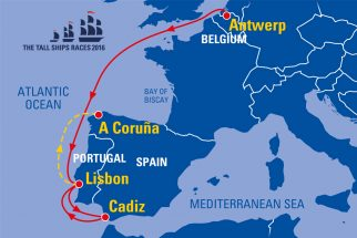 Tall Ships Races 2016 Map