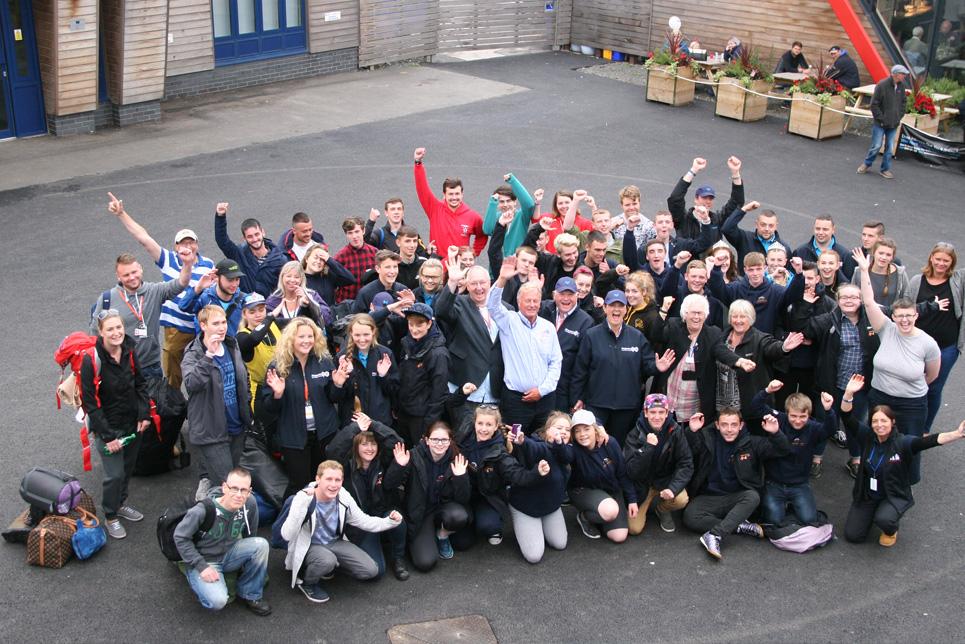 Trainees celebrating in Blyth