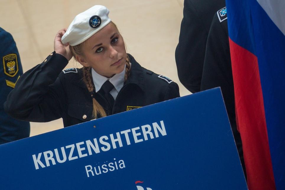 Crew member from Kruzenshtern
