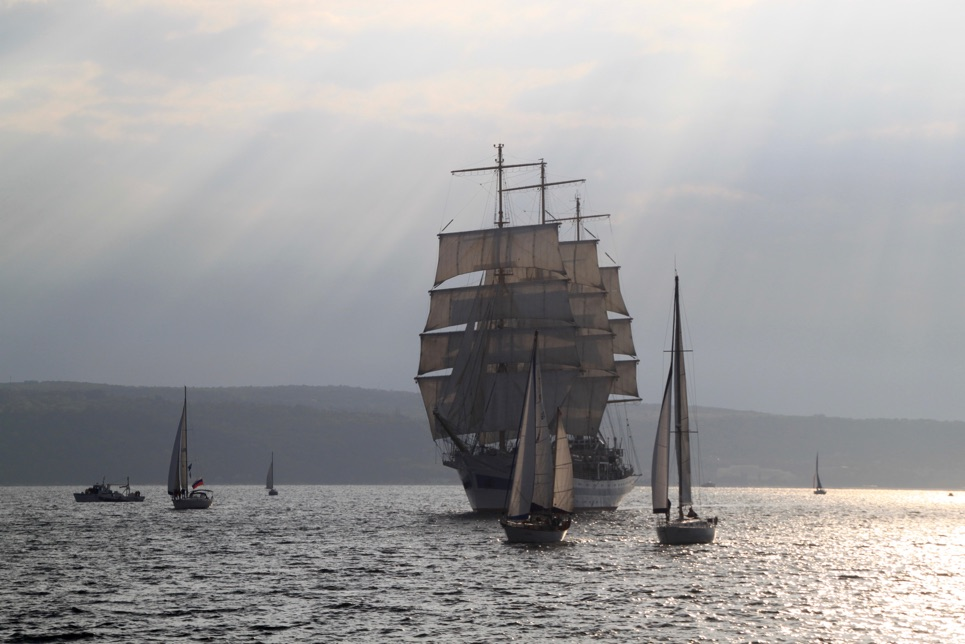 Parade of Sail in Varna, SCF Black Sea Tall Ships Regatta 2016