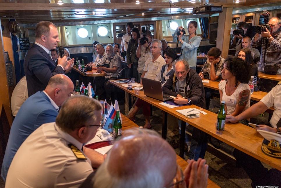 Press conference in Novorossiysk