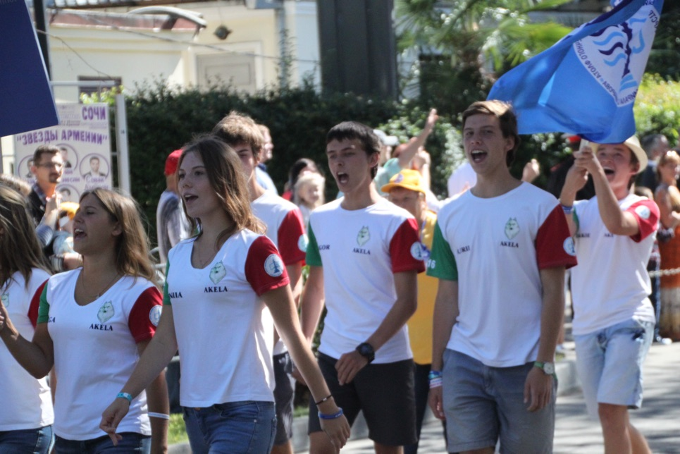 Akela during the Crew Parade