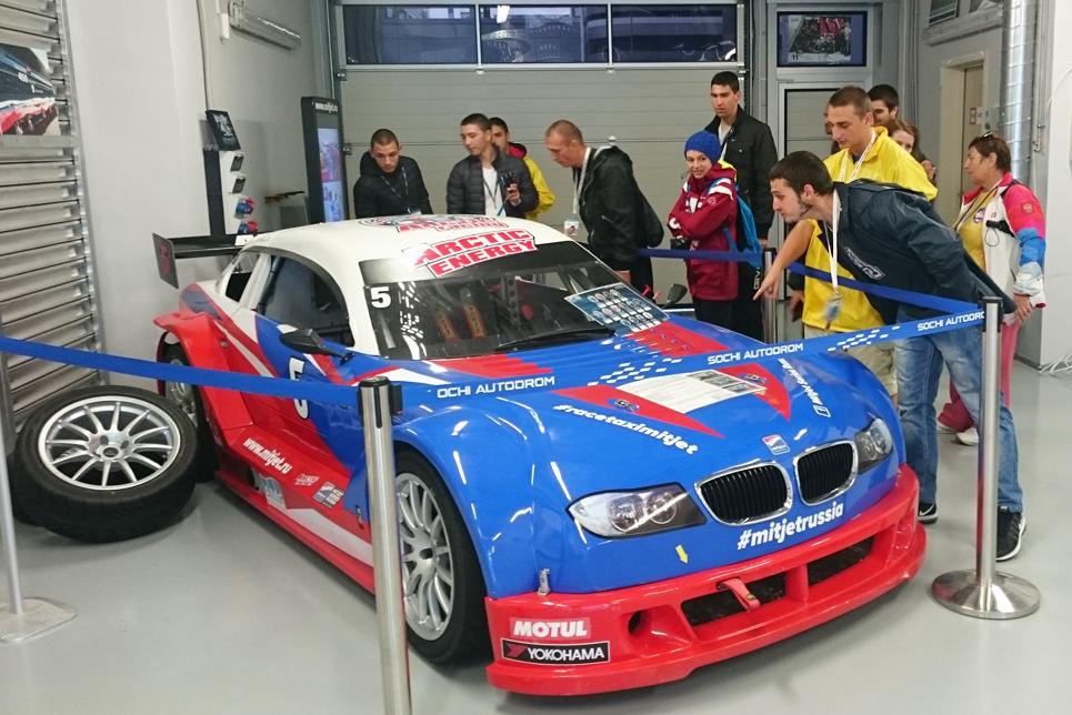 Trainees enjoying the Autodrom