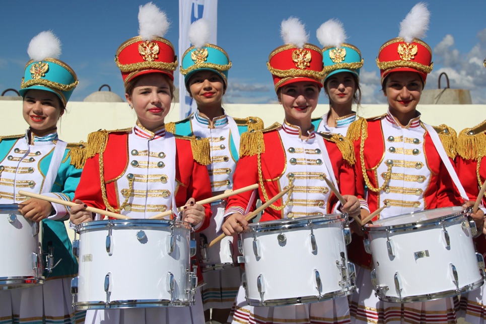 Drummers in the Crew Parade