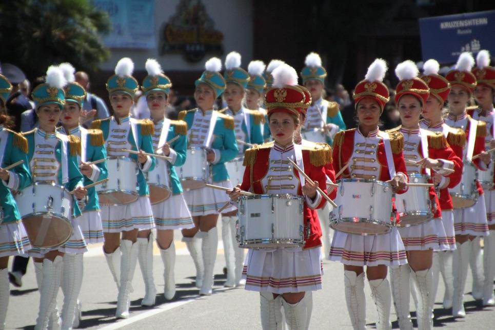 Crew parade