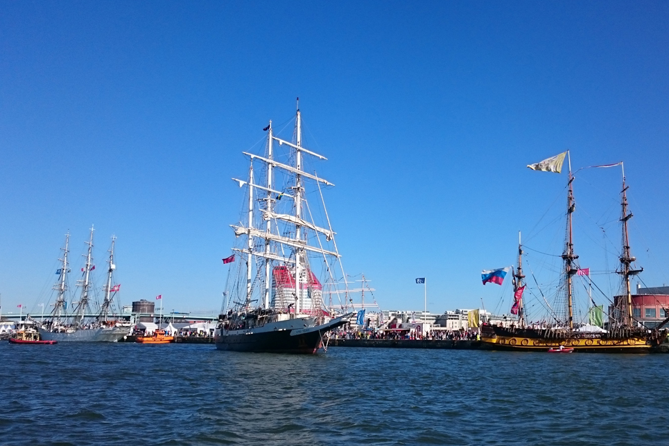 Lord Nelson in the Parade of Sail, Gothenburg.