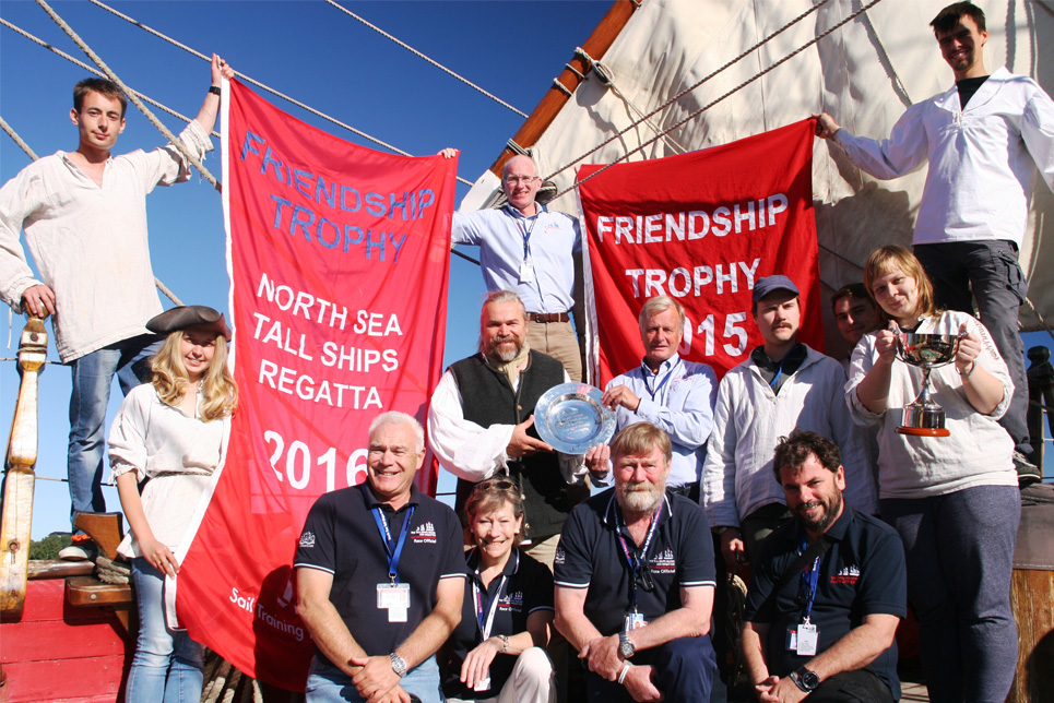 Shtandart celebrating winning the Friendship Trophy 2016