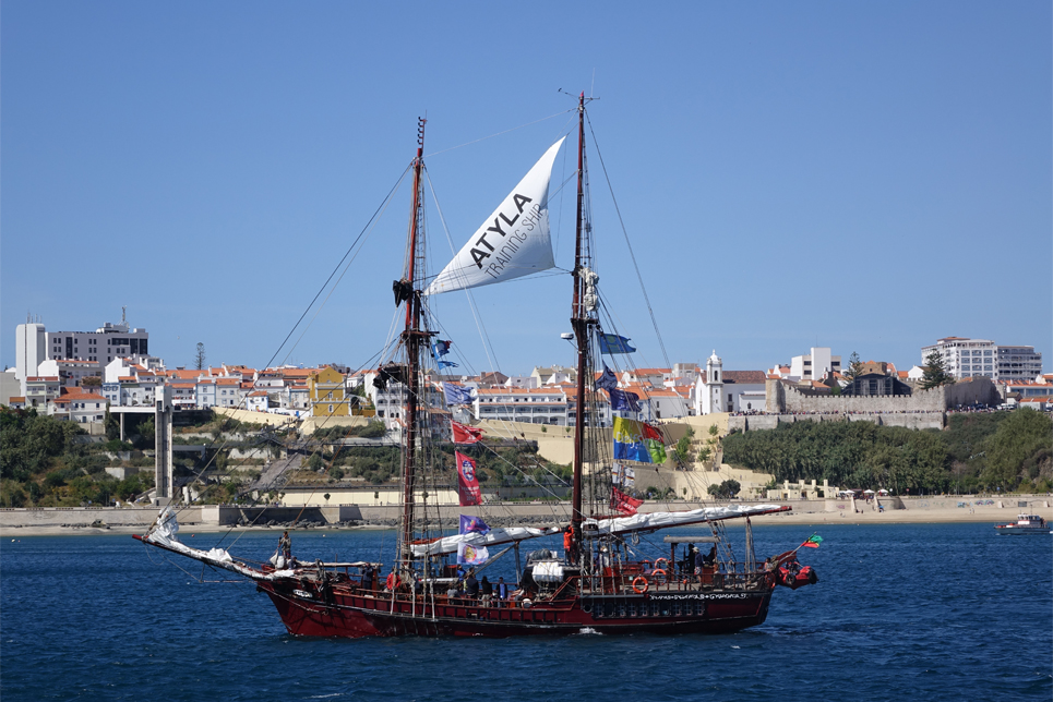 Atyla in the Sines Parade of Sail