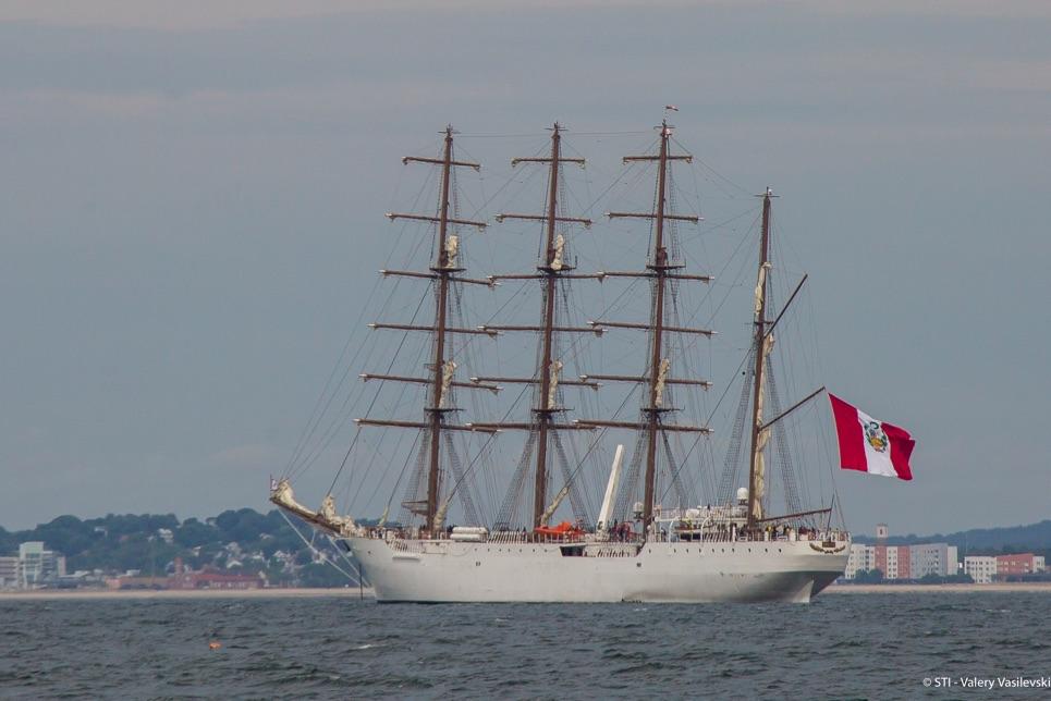 Union (Peru) in the Grand Parade of Sail Boston.