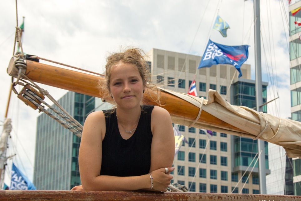 Catheryne Langford, sail trainee we followed on her epic journey in the Rendez-Vous 2017 Tall Ships Regatta.