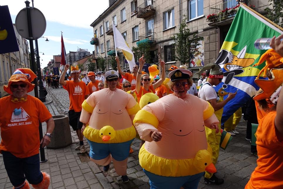 The Crew Parade in Klaipeda.