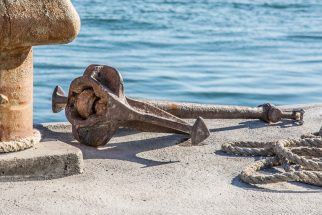 Ships Anchor by the sea