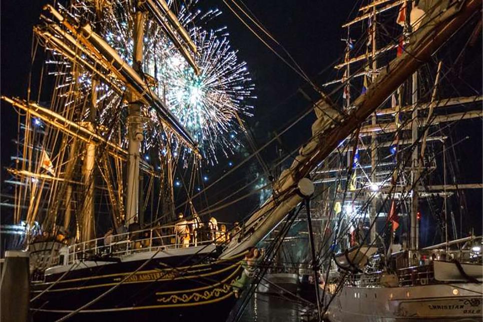 Tall Ships Bordeaux fireworks